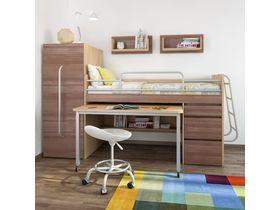 """Мебель для маленькой детской """"Минимакс"""" c кроватью трансформером в темном цвете"""
