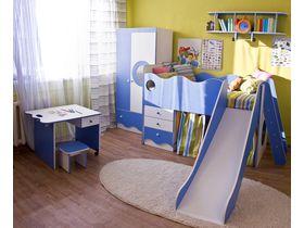 """Детская спальня для мальчика """"Морячок"""" с кроватью чердаком"""