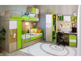 """Детская комната """"Твист"""" с двухъярусной кроватью (Вариант 2)"""