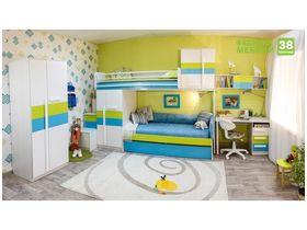 """Цветная детская комната """"Твист Олли"""" с двухъярусной кроватью"""