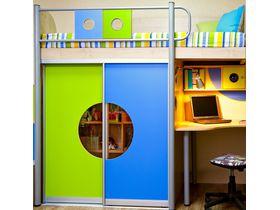 """Детская двухъярусная кровать со шкафом купе """"Выше Радуги"""""""