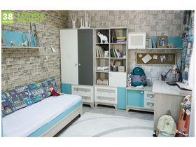 """Большая детская комната """"Индиго"""" с кроватью диваном"""