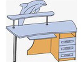 Стеллаж со столом