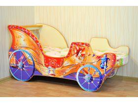 """Кровать машина для девочки """"Карета принцессы"""" с вместительным ящиком для белья"""
