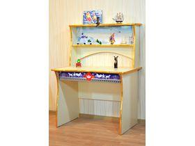 """Детский стол для школьника с надстройкой и ящиками """"Сказочный замок"""""""