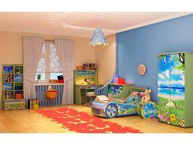 """Детская комната """"Природа"""" с кроватью машиной"""