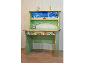 """Детский стол для школьника начального уровня с ящиками в зелёном цвете """"Природа"""""""