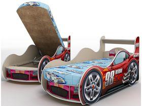 """Кровать машина для мальчика """"Роботы бежевые"""" в нескольких размерах начиная с 160*70"""