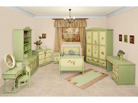"""Детская мебель  """"Любимая сказка, Ботаника"""" в зеленом цвете"""