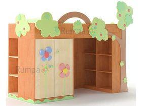 """Детская кровать-чердак """"Заколдованный лес"""""""