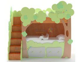 """Двухъярусная детская кровать с ящиками """"Гном"""""""