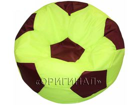 Кресло-мяч детское салатово-бордовое