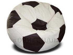 Кресло-мяч большое бежево-коричневое