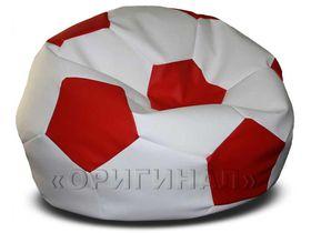Кресло-мяч большое бело-красное