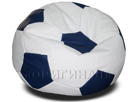 Кресло-мяч большое бело-синее