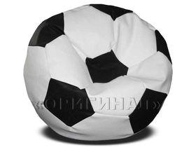 Кресло-мяч большое бело-черное