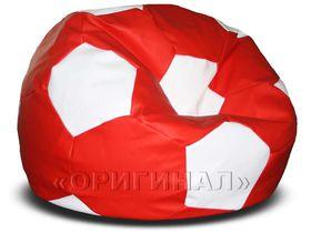 Кресло-мяч большое красно-белое