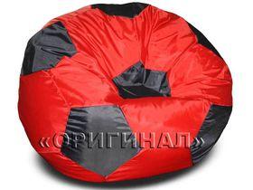 Кресло-мяч большое красно-черное