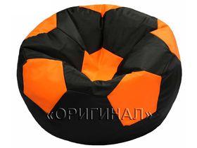 Кресло мяч детское чёрно-оранжевое