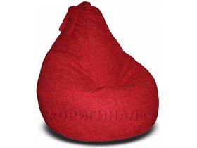 Кресло-мешок велюр темно-красное