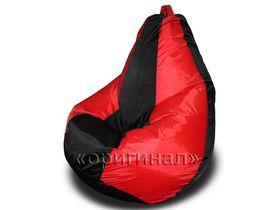 Кресло-мешок полиэстер красно-черное