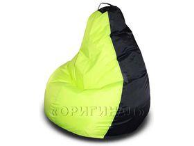 Кресло-мешок полиэстер черно-салатовое