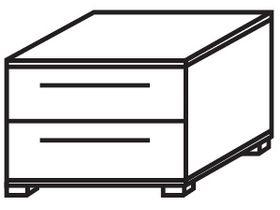 Прикроватная тумба с 2 ящиками