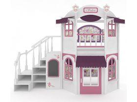 Домик большой La Fleur, модульная лестница, декор, ручная роспись