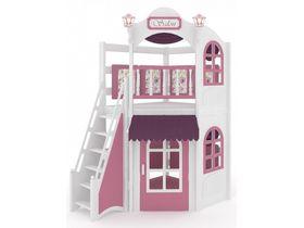 Домик угловой La Fleur, наклонная, закрытая лестница, декор, ручная роспись