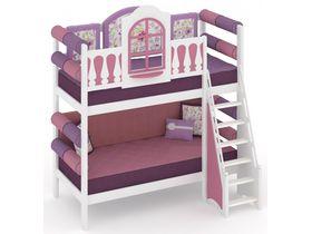 """Детская двухъярусная кровать из массива сосны """"La Fleur"""""""