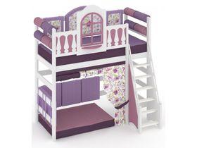 """Детская кровать - чердак высокая с игровой зоной из массива """"La Fleur"""""""