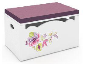 """Детский сундук - скамейка с ручной росписью из массива сосны """"La Fleur"""""""