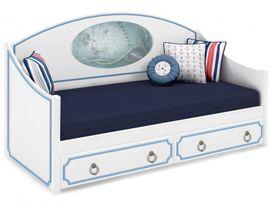 """Детская кровать-диван в нескольких размерах из массива """"Морская регата"""""""