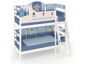 """Детская кровать с бортиком безопасности и наклонной лестницаей """"Рыцари"""""""
