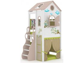 Домик малый Совы, наклонная, закрытая лестница, панели-ручная роспись
