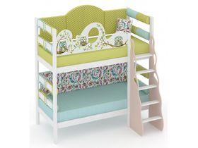"""Детская двухъярусная кровать из массива сосны """"Совы"""""""