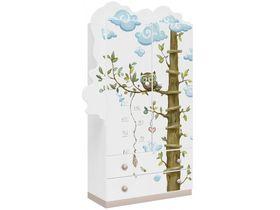 """Детский шкаф двухдверный с выдвижными ящиками из массива сосны """"Совы"""""""