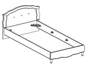 Кровать под матрас 100*200
