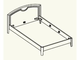 Кровать под матрас 120*200