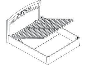 Кровать под матрас 160*200 с подъемным механизмом