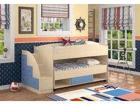 Низкая детская двухъярусная кровать Дюймовочка (Вариант 1)