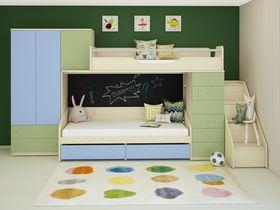 Детская двухъярусная кровать со шкафом Некст (Композиция 1)