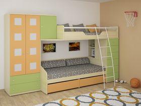 Детская двухъярусная кровать со шкафом Некст (Композиция 2)