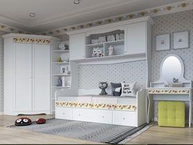 """Детская мебель для спальни в светлой цветовой гамме """"Эльза"""""""