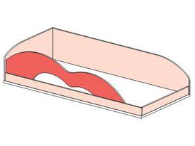 """Кровать верхняя 90*200 с резным бортом """"Миа"""""""