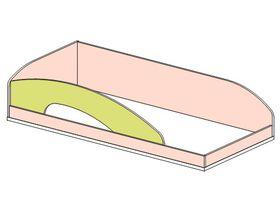 """Кровать верхняя 90*200 с обычным бортом """"Миа"""""""