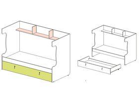 """Каркас двухъярусной кровати с выдвижной кроватью """"Миа"""""""