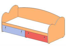 """Кровать-диван 90*200 с резным изголовьем/изножьем """"Миа"""""""