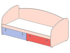 """Кровать-диван с обычным изголовьем/изножьем """"Миа"""""""