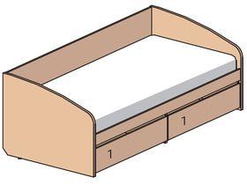 """Кровать-диван под матрас 200х90 см из детской коллекции """"Некст"""""""